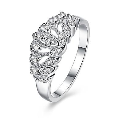 Damen Ring Kubikzirkonia Personalisiert Luxus Geometrisch Kreisförmiges Einzigartiges Design Klassisch Retro Böhmische Grundlegend Herz