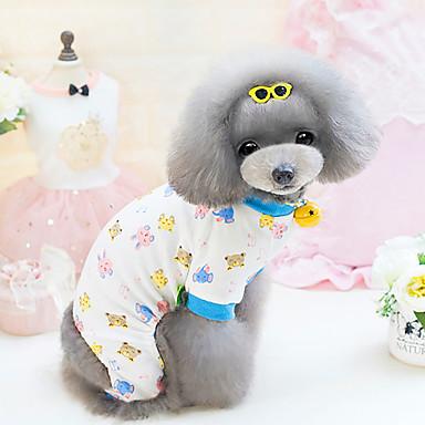 Σκύλος Φόρμες Ρούχα για σκύλους Αναπνέει Χαριτωμένο Κινούμενα σχέδια Κίτρινο Μπλε Στολές Για κατοικίδια