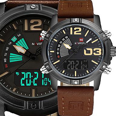 Heren Japanse quartz Digitaal horloge Polshorloge Militair horloge Sporthorloge Japans Kalender Waterbestendig LED Grote wijzerplaat Punk