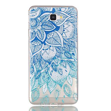 hoesje Voor Samsung Galaxy J7 Prime J5 Prime Transparant Patroon Achterkantje Bloem Zacht TPU voor J7 (2016) J7 Prime J5 (2016) J5 Prime