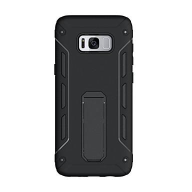Hülle Für Samsung Galaxy S8 Plus S8 Stoßresistent mit Halterung Rückseite Volltonfarbe Hart PC für S8 Plus S8 S7 edge S7