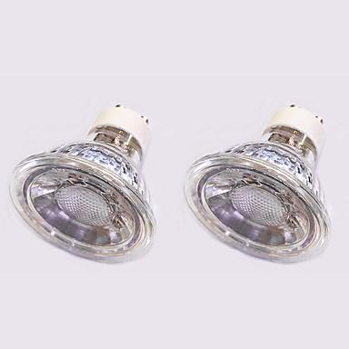 5W 420 lm GU10 LED ضوء سبوت 1 الأضواء COB أبيض دافئ أبيض