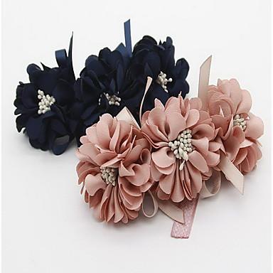 Pisici Câine Gulere Consumabile DIY Pliabil Ajustabile Flori Dantelă Material Textil Albastru Roz