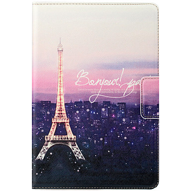 Voor apple ipad mini 3/2/1 case cover met standaard auto slaap / wake flip magnetisch patroon full body case eiffeltoren hard pu leer
