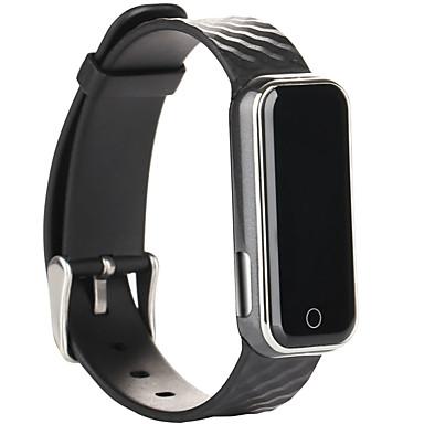 Heren Smart horloge Chinees Digitaal Hartslagmeter Waterbestendig Stappentellers tachymeter Fitness trackers Snelheidsmeter Silicone Band
