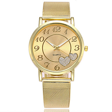 Damen Kleideruhr Modeuhr Japanisch Quartz Armbanduhren für den Alltag Legierung Band Charme Freizeit Elegant Silber Gold