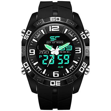 Heren Modieus horloge Digitaal Rubber Band Zwart Blauw Groen
