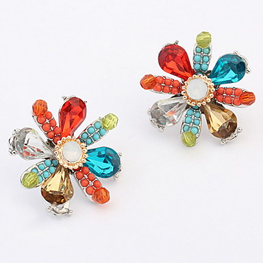 Heren Dames Oorknopjes Bergkristal Basisontwerp Uniek ontwerp Bergkristallen leuke Style Euramerican Movie Jewelry Luxe Sieraden