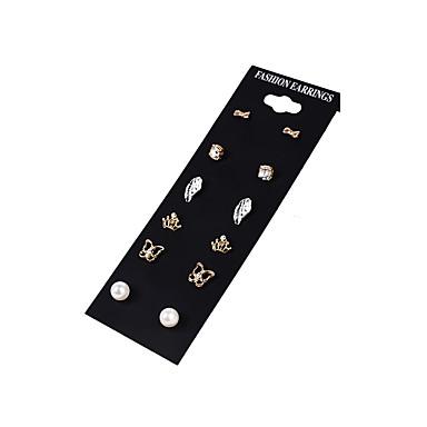 Dames Oorknopjes Ring oorbellen Bergkristal Basisontwerp Uniek ontwerp Meetkundig Cirkel Movie Jewelry Brits Klassiek Dubbele laag