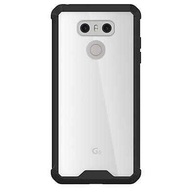 Voor lg g6 case cover hoge penetratie acryl backplane tpu frame combo armor telefoon hoesje