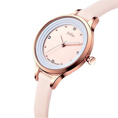 Dames Modieus horloge Japans Kwarts Waterbestendig Leer Band Zwart Wit Blauw Bruin Roze