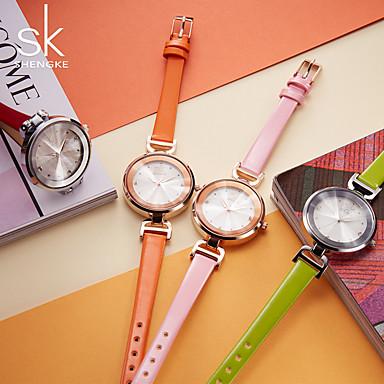 Dames Dress horloge Modieus horloge Polshorloge Horlogeketting Armbandhorloge Gesimuleerd Diamant Horloge Japans Kwarts Waterbestendig