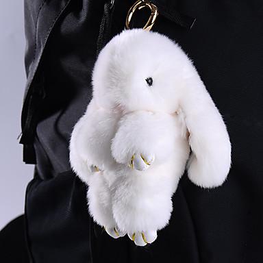 Charme-Anhänger für Taschen / Handys Kaninchenfell
