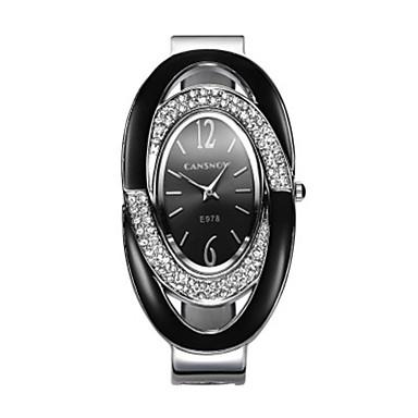 Dames Modieus horloge Kwarts Legering Band Zwart Zilver Rood