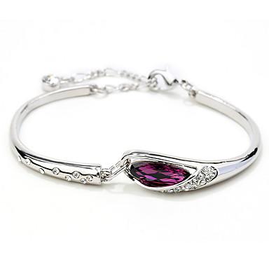 Dames Armbanden met ketting en sluiting Sieraden Vintage Natuur Modieus Met de Hand Gemaakt Kristal Legering Ronde vorm Hartvorm Sieraden