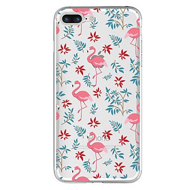 Voor Hoesje cover Transparant Patroon Achterkantje hoesje Flamingo Zacht TPU voor Apple iPhone 7 Plus iPhone 7 iPhone 6s Plus iPhone 6