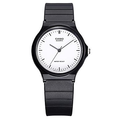 Casio Heren Voor Stel Sporthorloge Modieus horloge Polshorloge Japans Kwarts Waterbestendig Rubber Band Cool Vrijetijdsschoenen Zwart
