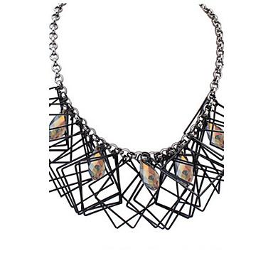 Dames Hangertjes ketting Kettingen Verklaring Kettingen Parel Synthetische Diamant Geometrische vorm Sieraden Glas Legering Basisontwerp