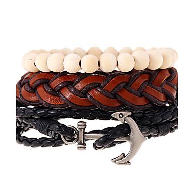 Dames Heren Lederen armbanden Modieus Leder Geometrische vorm Sieraden Voor Bruiloft Feest Sport 1 stuks