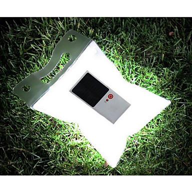 1W LED-lampen op zonne-energie Opblaasbaar / Gemakkelijk draagbaar Koel wit Buitenverlichting / Kamperen&Wandelen