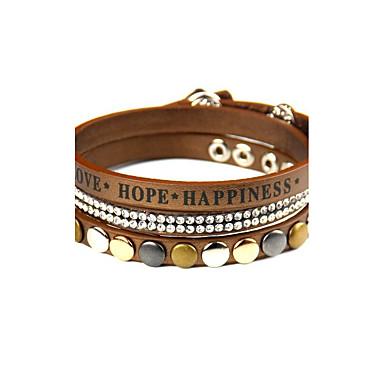 للمرأة أساور التفاف أساور من الجلد مجوهرات موضة بانغك جلد سبيكة دائري مجوهرات مناسبة خاصة الرياضة