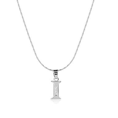 Heren Dames Alfabetvorm Logostijl Bohémien Met de Hand Gemaakt Machtsevenwicht Opvallende sieraden USA Hangertjes ketting Zirkonia