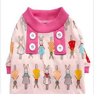 Câine Pijamale Îmbrăcăminte Câini Desene Animate Verde Roz Albastru Deschis Bumbac Costume Pentru animale de companie Bărbați Pentru femei