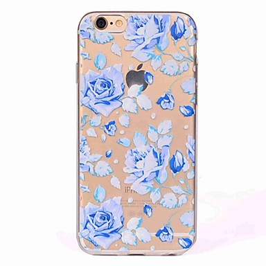Hülle Für Apple iPhone 7 / iPhone 7 Plus Transparent / Muster Rückseite Blume Weich TPU für iPhone 7 Plus / iPhone 7 / iPhone 6s Plus
