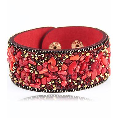 Dames Lederen armbanden Sieraden Modieus Punk Leder Legering Rond Sieraden Speciale gelegenheden  Sport Kostuum juwelen