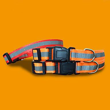 Hond Kraag draagbaar Vouwbaar Bel Verstelbaar Kleurenblok Nylon