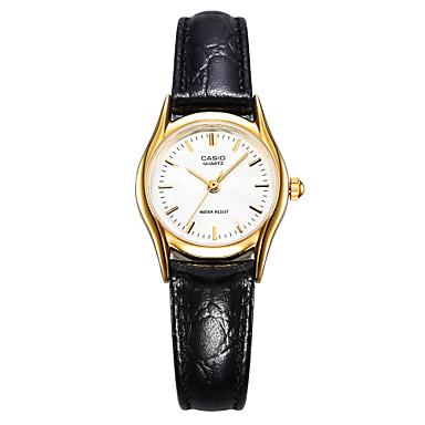 Casio Dames Modieus horloge Polshorloge Japans Kwarts Waterbestendig Leer Band Bedeltjes Vrijetijdsschoenen Elegante horloges Zwart