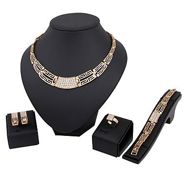 Damen Schmuckset Strass Strass Aleación Irregulär Euramerican Modisch Party 1 Halskette 1 Paar Ohrringe 1 Armreif 1 Ring Modeschmuck