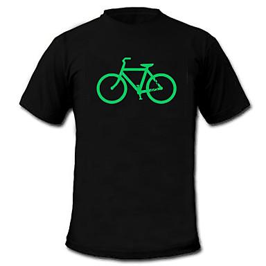 LED-T-Shirts 100% Baumwolle 2 AAA Batterien