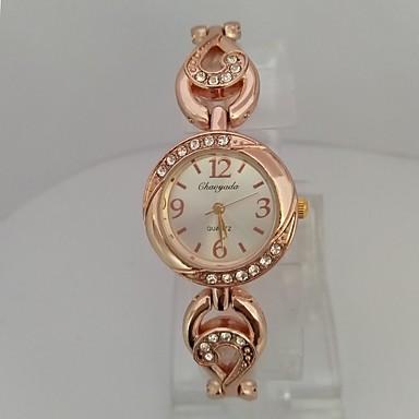 Damen Modeuhr Armband-Uhr Chinesisch Quartz digital Rose Gold überzogen Legierung Band Glanz Bequem Elegante Rotgold