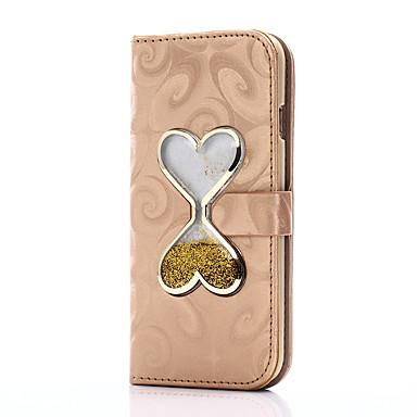Maska Pentru Apple iPhone 7 Plus iPhone 7 Titluar Card Portofel Cu Stand Scurgere Lichid Întoarce Magnetic Carcasă Telefon Inimă Greu PU
