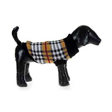 كلب البلوزات ملابس الكلاب Plaid/Check قطن كوستيوم للحيوانات الأليفة للرجال للمرأة كاجوال/يومي