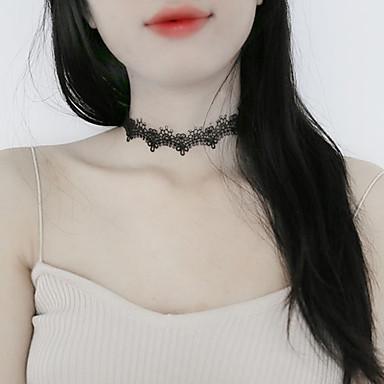 Pentru femei Șuviță unică Design Unic Clasic De Bază Coliere Choker Bijuterii Dantelă Aliaj Coliere Choker . Zi de Naștere Zilnic Casual