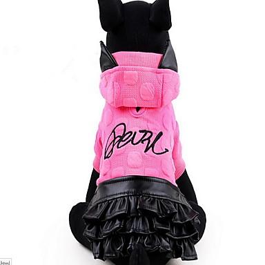 كلب الفساتين ملابس الكلاب جميل أميرة أصفر فوشيا كوستيوم للحيوانات الأليفة