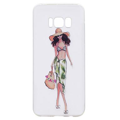 Hülle Für Samsung Galaxy S8 Plus S8 Transparent Muster Rückseitenabdeckung Sexy Lady Cartoon Design Weich TPU für S8 S8 Plus