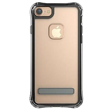 hoesje Voor Apple Schokbestendig met standaard Transparant Achterkantje Effen Kleur Hard TPU voor iPhone 7 Plus iPhone 7 iPhone 6s Plus