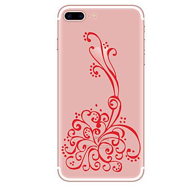 Maska Pentru Apple iPhone 7 Plus iPhone 7 Transparent Model Capac Spate Floare Desene Animate Moale TPU pentru iPhone 7 Plus iPhone 7