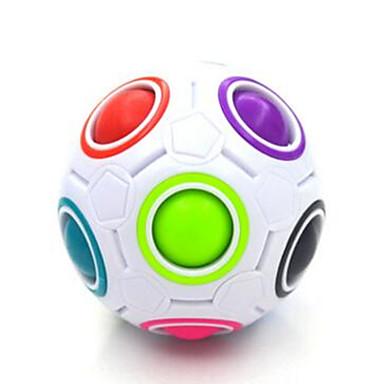مكعب روبيك كرات قوس قزح السحرية السلس مكعب سرعة مكعبات سحرية مخفف الضغط لغز مكعب لامعة البلاستيك مستطيل مربع كرة القدم هدية