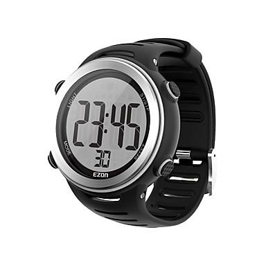yeni varış ezon t007 kalp hızı monitör dijital saat, alarm kronometre erkekler spor çalışan göğüs kemeri ile saatler Açık kadınlar
