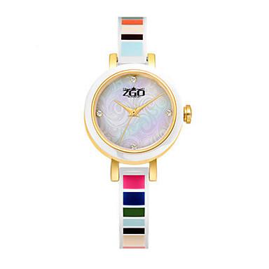 Dames Modieus horloge Kwarts Waterbestendig Keramiek Band Wit