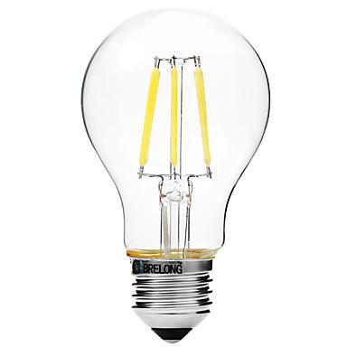 BRELONG® 1 buc 6W 450 lm E27 Bec Filet LED A60(A19) 6 led-uri COB Intensitate Luminoasă Reglabilă Alb Cald Alb AC 200-240V