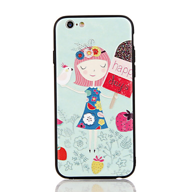 Für Apfel iphone 7 7 plus iphone 6s 6 plus Fallabdeckung das kleine Mädchenmuster 3d Entlastungplastikrückseitenoberteil tpu Rahmenfälle