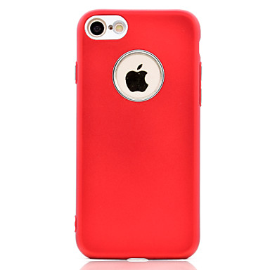 hoesje Voor Apple Beplating Achterkantje Effen Kleur Zacht TPU voor iPhone 7 Plus iPhone 7 iPhone 6s Plus iPhone 6 Plus iPhone 6s Iphone