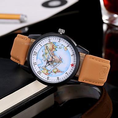 Pentru femei pentru Doamne Ceas La Modă Ceas de Mână Unic Creative ceas Ceas Casual Quartz Piele BandăCharm Cool Casual World Map Pattern