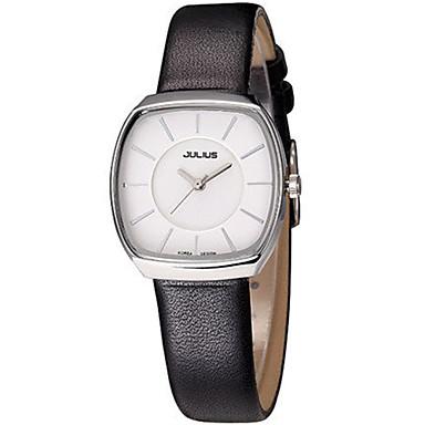 Dames Modieus horloge Japans Kwarts Waterbestendig Leer Band Informeel Zwart Wit Bruin Goud