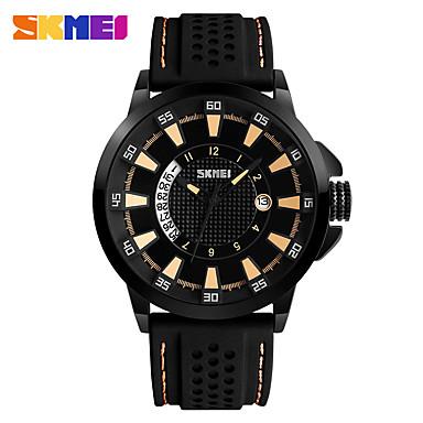 SKMEI Heren Polshorloge Modieus horloge Kwarts Silicone Band Zwart